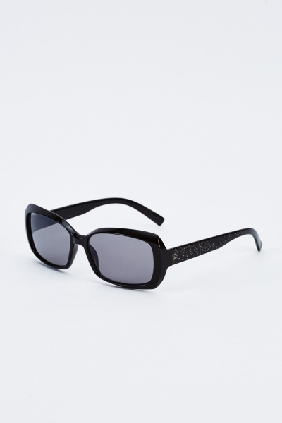 Chunky Glitter Detailed Sunglasses
