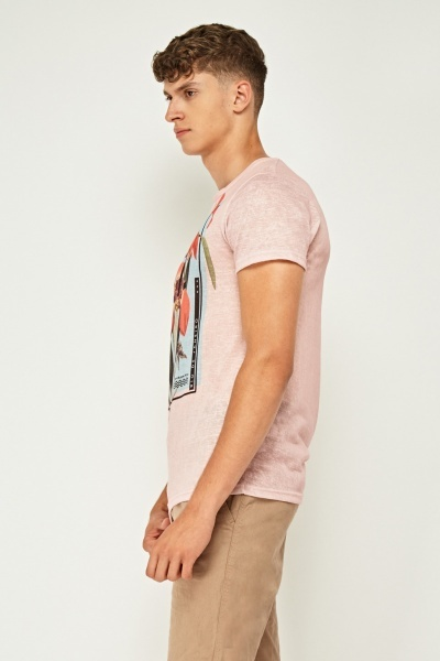 Pink Graphic Front T-Shirt