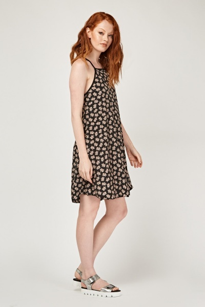 Printed Flared Tent Dress