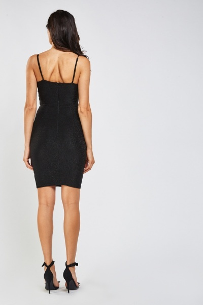 Twisted Keyhole Mini Lurex Dress
