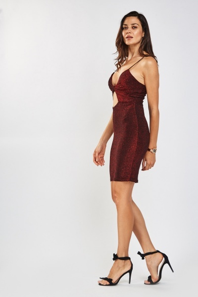 Twisted Lurex Bodycon Dress