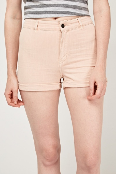 Roll Up Hem Denim Shorts