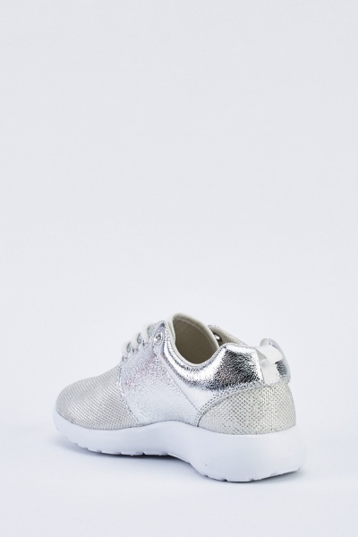 Metallic Contrasted Trainers