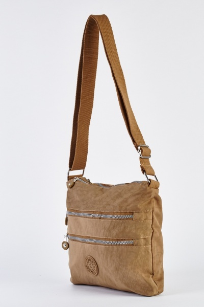 Zipper Front Cross-Body Bag