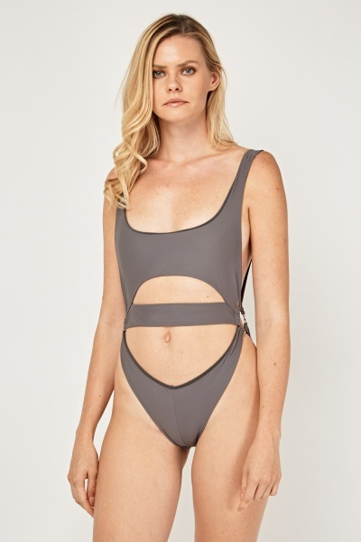 Basic Cut Out Swimsuit