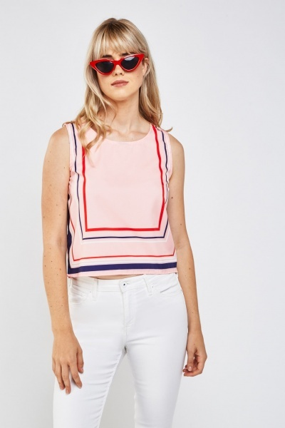 Candy Striped Shell Top