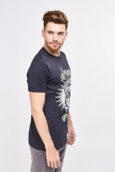 Tiger Print Mens T-Shirt