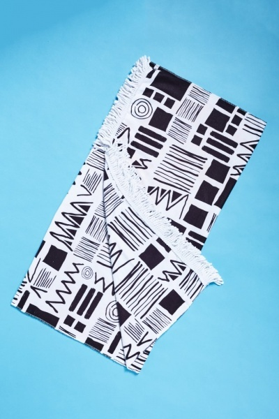 Geo Printed Beach Towel