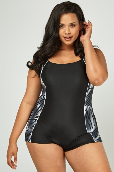 Printed Side Swimsuit