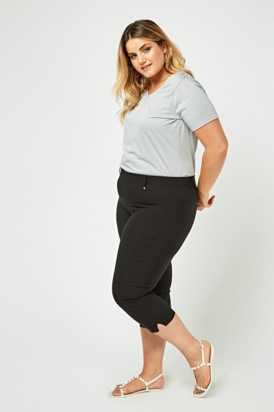 Skinny Fit Capri Trousers