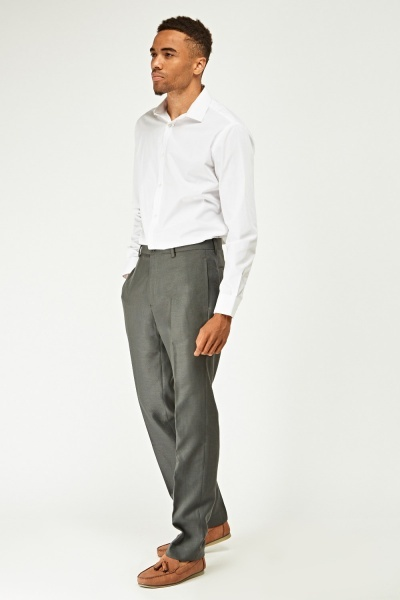 Mens Formal Tailored Trousers