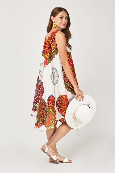 Mandela Printed Tent Dress