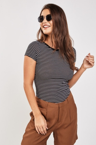 Pack Of 3 Basic Ribbed Tops