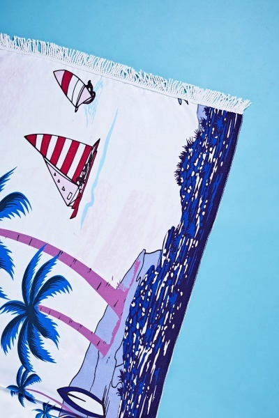 Seaside Printed Beach Towel