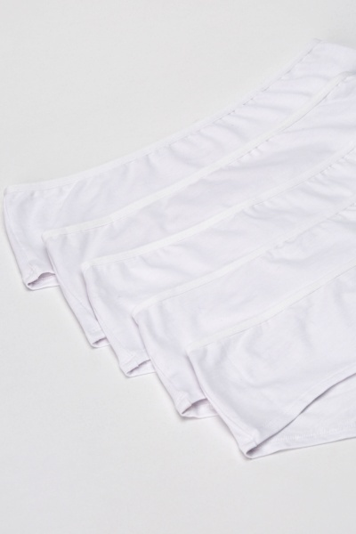 Pack Of 5 Pairs Of Cotton Blend Full Briefs