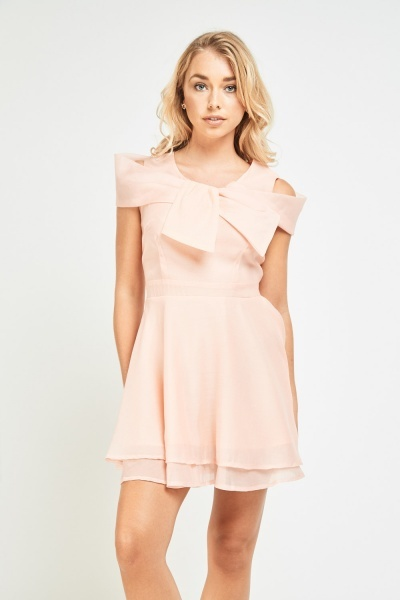 Twisted Cut Out Skater Dress