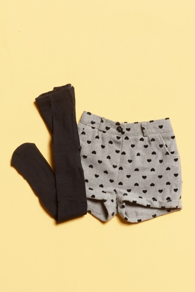 2 Piece Shorts And Tights Set