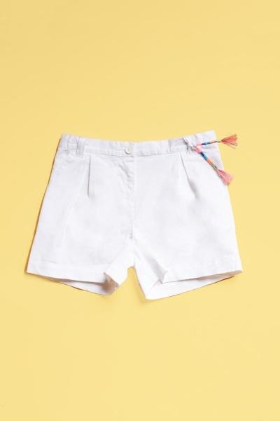 Cotton Blend Girls Shorts