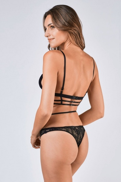 Lace Plunge Bra And Brief Set