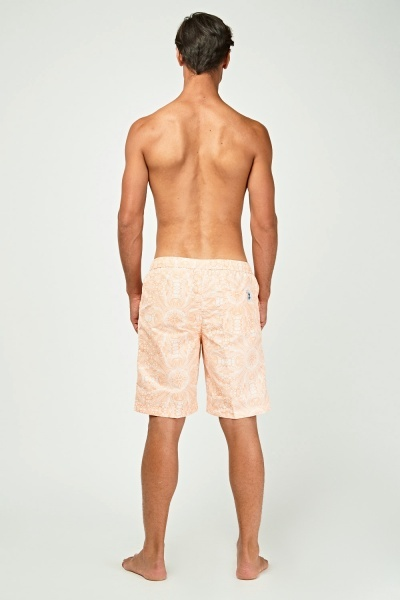 Mixed Print Swim Shorts