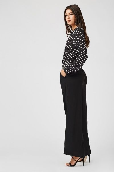 Polka Dot Wide Leg Jumpsuit