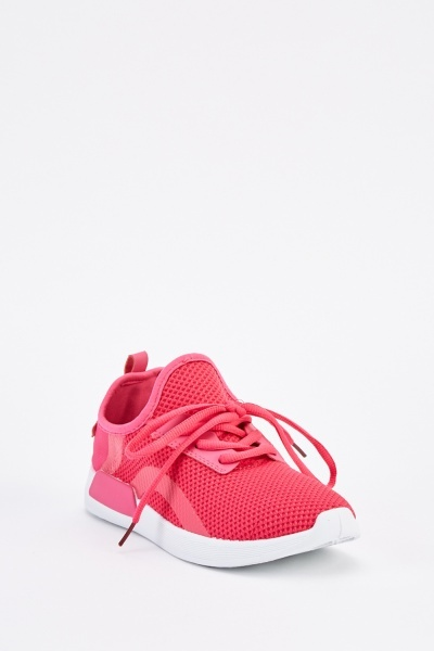 Contrasted Lace Up Trainers