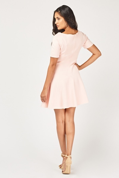 Structured Scuba Skater Dress