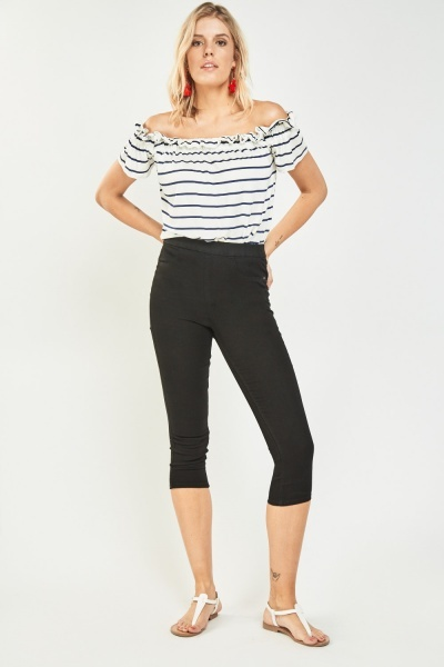 Ankle Grazer Crop Skinny Jeggings