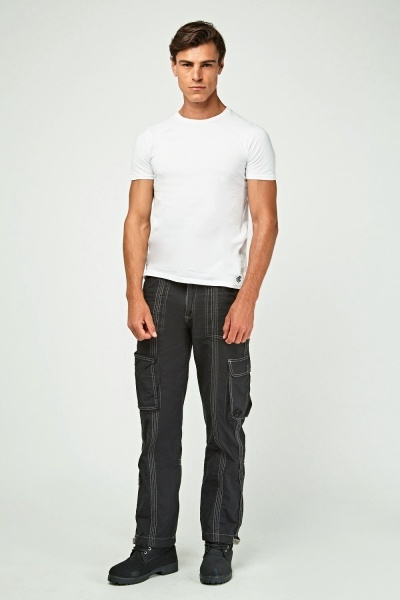 Classic Fit Stitched Trousers