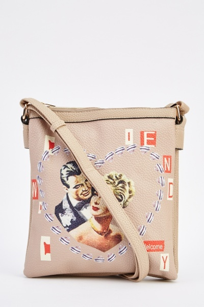Novelty Printed Crossbody Bag
