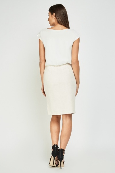 Contrasted Midi Pencil Dress