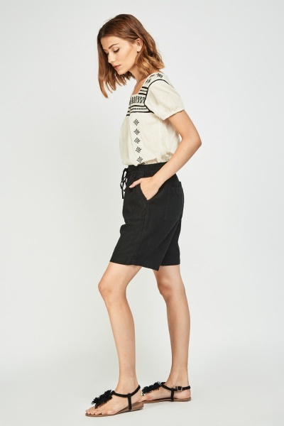 Long Line Casual Culotte Shorts