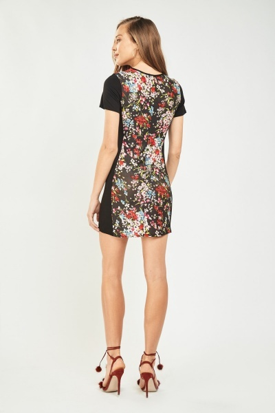 Floral Print Mini Shift Dress
