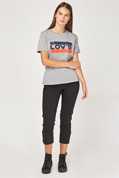 Low Rise Casual Crop Trousers
