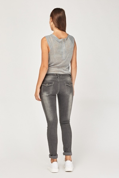 Washed Out Skinny Fit Jeans