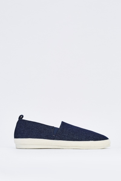Denim Look Slip On Plimsolls