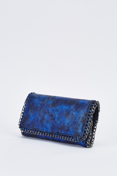 Metallic Chained Trim Purse