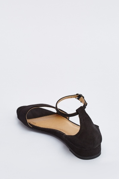 Strappy Suedette Ankle Sandals