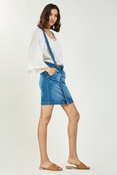 Mini Braces Denim Skirt
