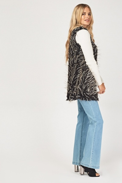 Speckled Faux Fur Gilet