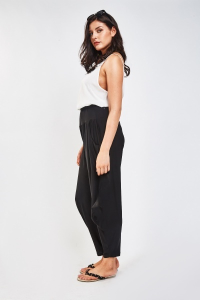 High Waist Draped Harem Pants