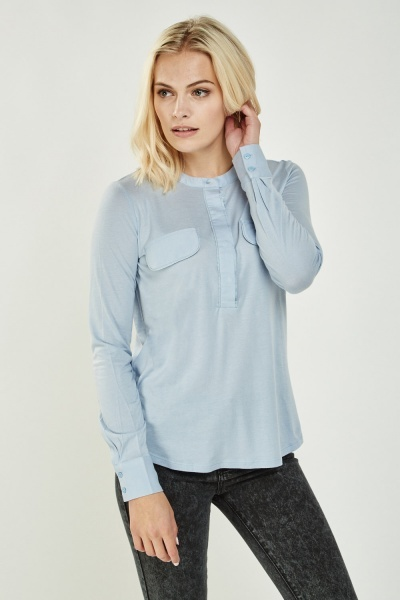 Long Sleeve Sheer Casual Top