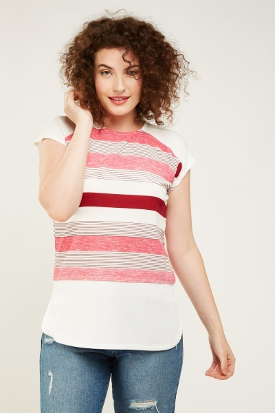 Candy Striped Casual Top