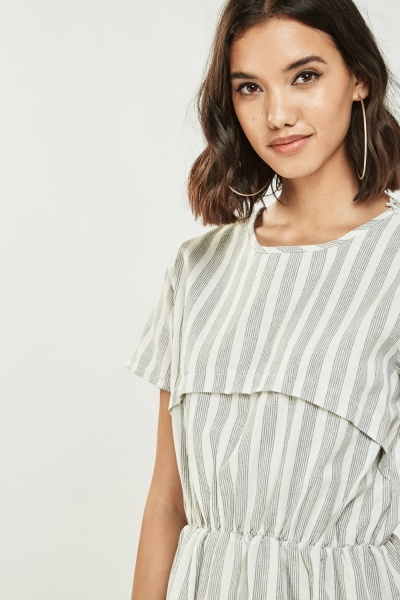 Casual Short Sleeve Midi Dress