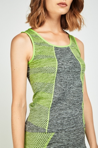 Speckled Sports Tank And Leggings Set