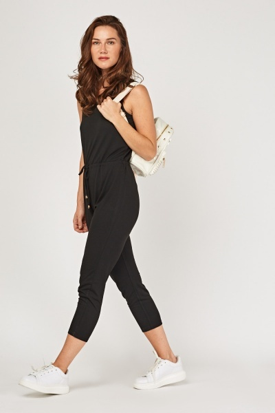 Skinny Fit Crop Jumpsuit