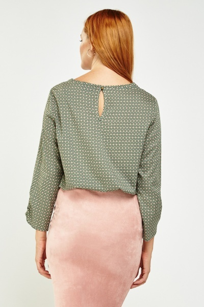 Tile Printed Casual Blouse