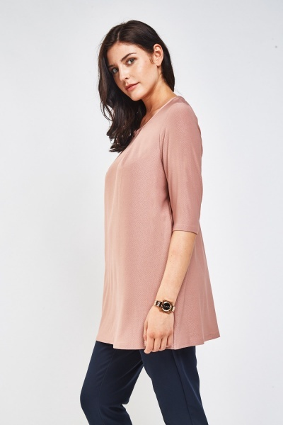 Textured Dusty Pink Top