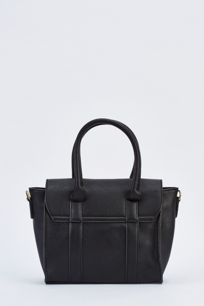 Classic Faux Leather Winged Bag
