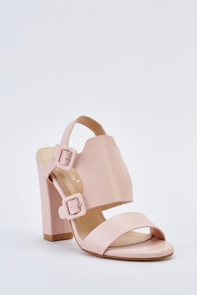Cut Out Buckle Side Sandals